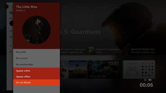 Режим «Не беспокоить» появился в тестовой прошивке Xbox One