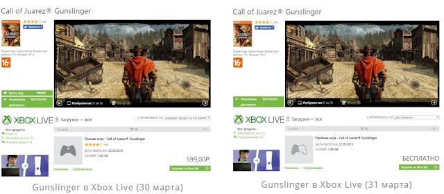 Call of Juarez Gunslinger больше нельзя купить в Xbox Marketplace