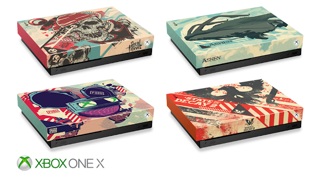 Microsoft привезла на PAX East консоли Xbox One X в уникальных расцветках