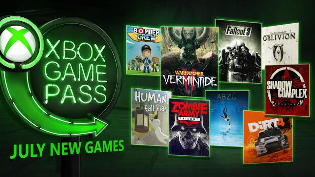 9 игр пополнят список бесплатных проектов Xbox Game Pass в июле