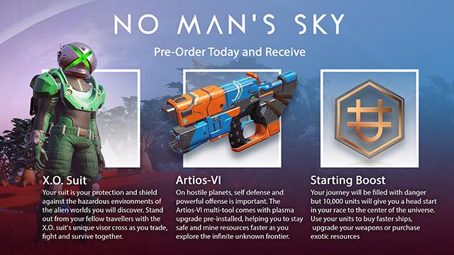 За предзаказ No Man`s Sky игроки получат скафандр со шлемом в виде логотипа Xbox