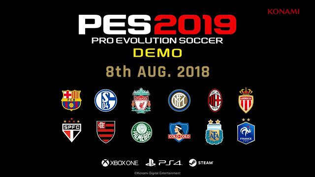 Объявлена дата выхода демо-версии Pro Evolution Soccer 2019