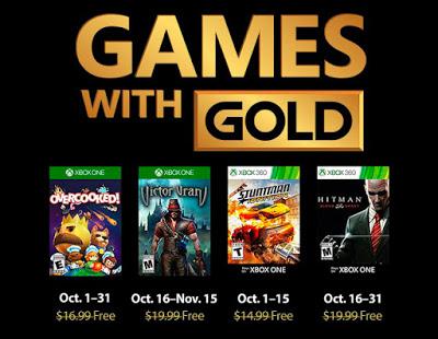 Объявлен список бесплатных игр по программе Games With Gold в октябре