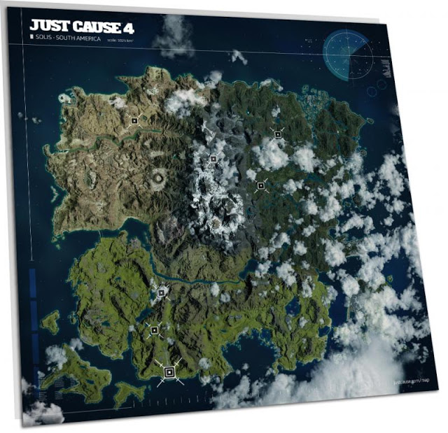Avalanche Studios показали карту Just Cause 4