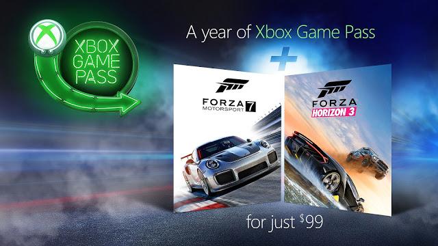 Microsoft дарит игры серии Forza при покупке Xbox Game Pass по акции
