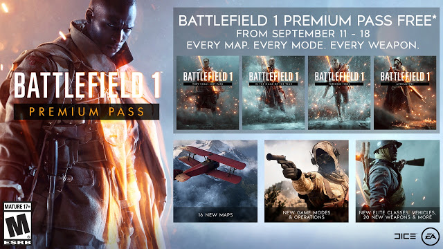 Все DLC для Battlfield 1 будут доступны бесплатно в течение ограниченного времени