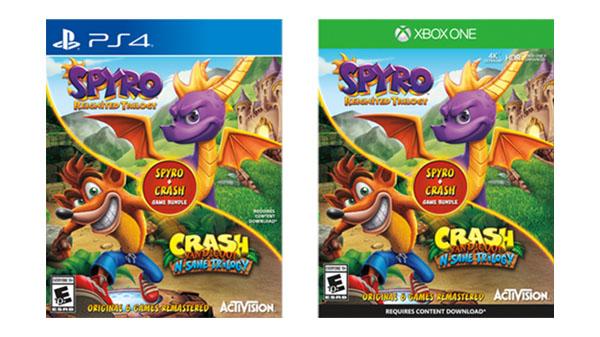 Бандл из трилогий Spyro и Crash Bandicoot выйдет для Xbox One