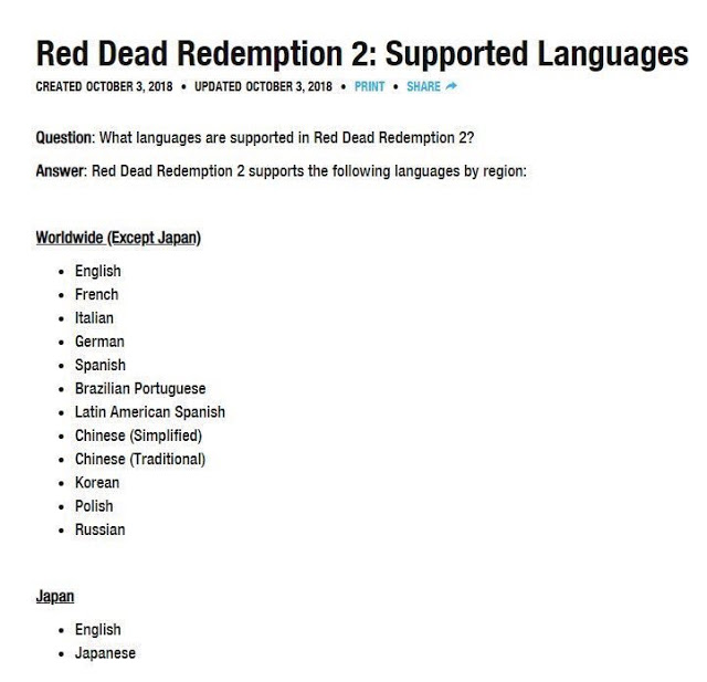 Red Dead Redemption 2 получит русскую локализацию на старте