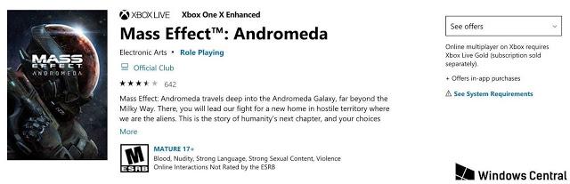 Mass Effect Andromeda получила обновление под Xbox One X