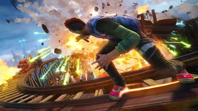 Сравнение Sunset Overdrive на Xbox One и PC