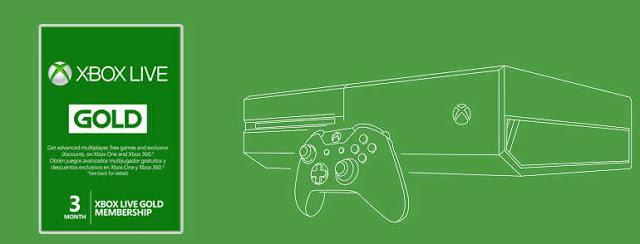 Распродажа подписки Xbox Live Gold на 3, 6 и 12 месяцев
