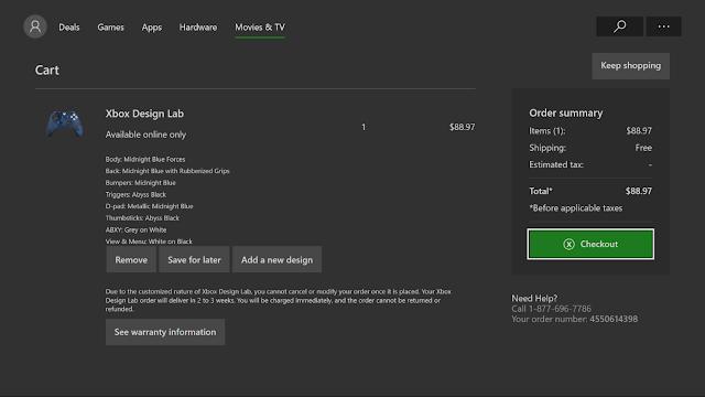 Собрать геймпад для Xbox One с уникальным дизайном теперь можно с консоли