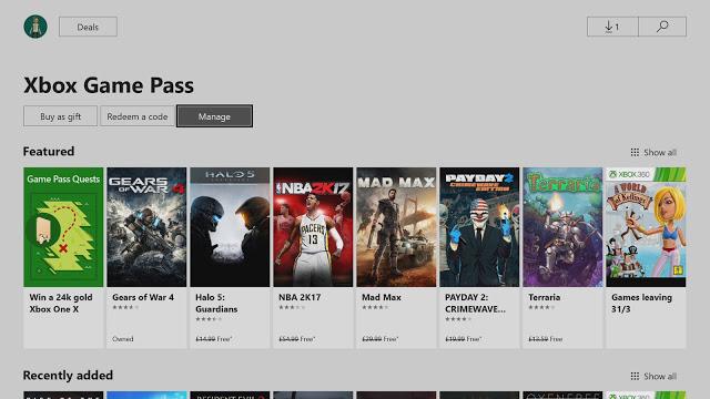 Microsoft включила в подписку Xbox Game Pass игр более чем на $2700 в 2018 году