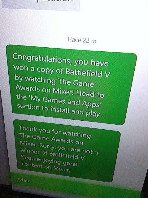 Microsoft радует и одновременно огорчает тех, кто выиграл Battlefield V за просмотр The Game Awards