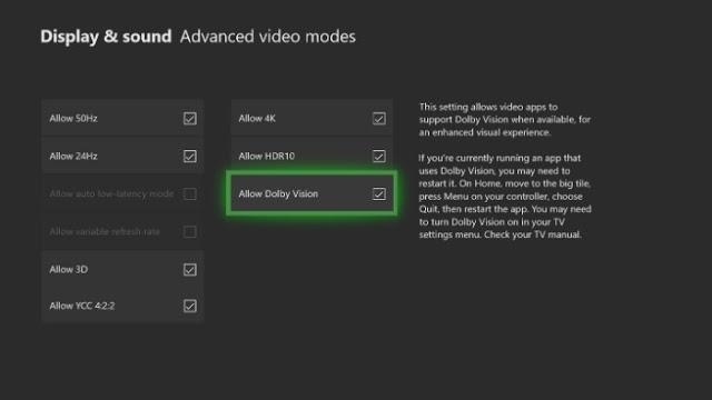 Функция Dolby Vision HDR вскоре станет доступна в фильмах и сериалах на Xbox One