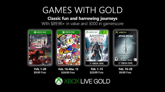 Список бесплатных игр по программе Games With Gold в феврале