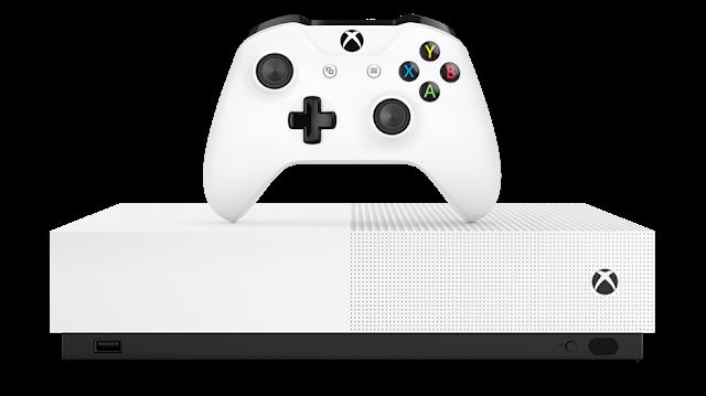 Анонсирована игровая приставка Xbox One S All-Digital Edition