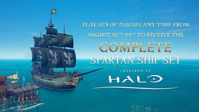 В Sea of Thieves можно получить бесплатно набор Halo в честь Gamescom
