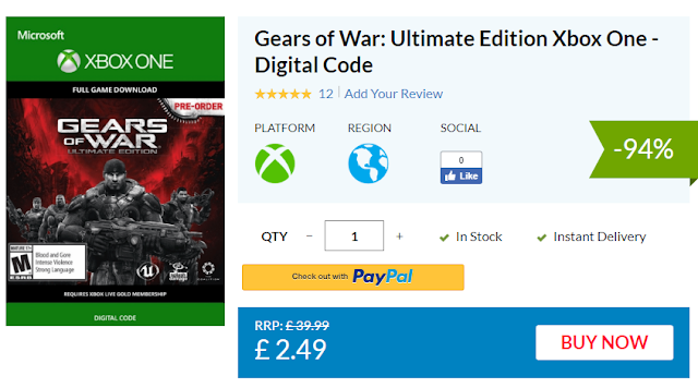 Gears of War: Ultimate Edition можно купить со скидкой 94%