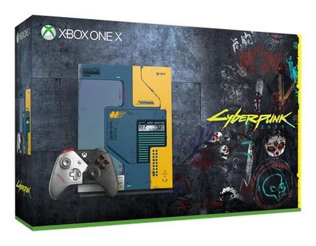 Появились фото Xbox One X и геймпада для Xbox One в стиле Cyberpunk 2077
