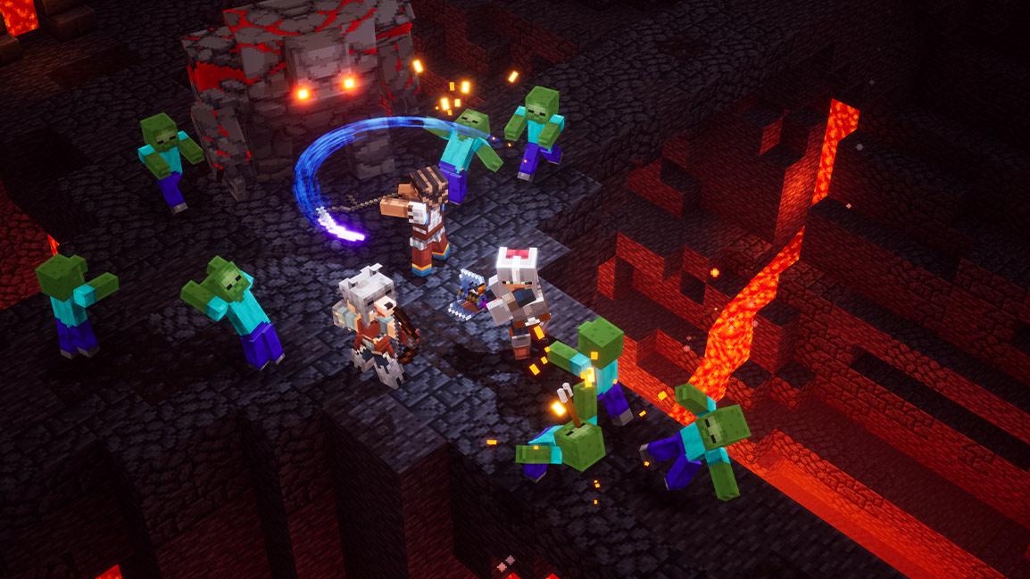 Кросс-платформенный мультиплеер в Minecraft Dungeons появится позже