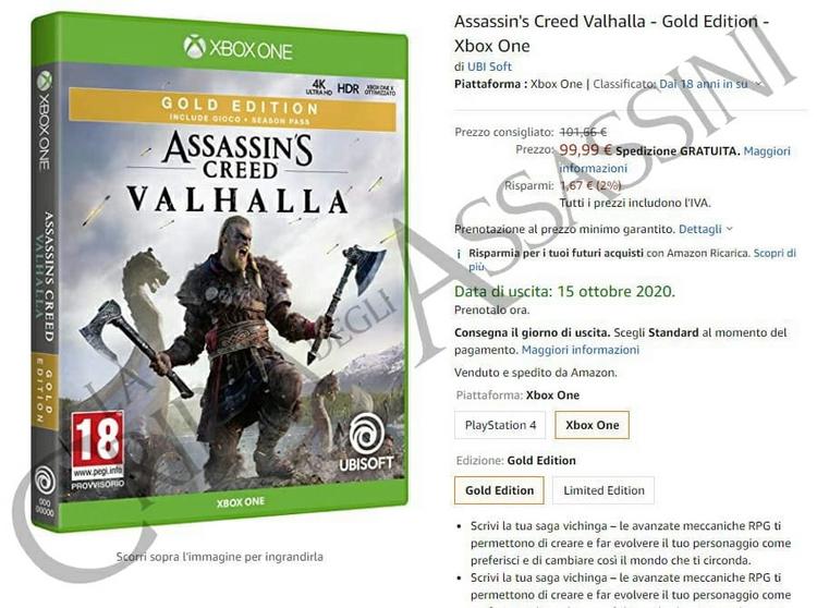 В сети появилась предполагаемая дата релиза Assassin's Creed Valhalla
