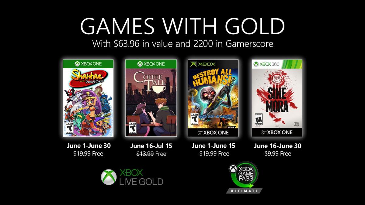 Бесплатные игры по программе Games With Gold в июне