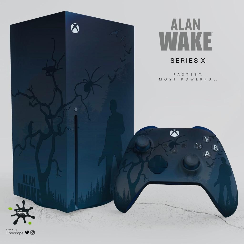 Концепт: Xbox Series X в стиле The Witcher, Alan Wake, Scorn и Halo Infinite