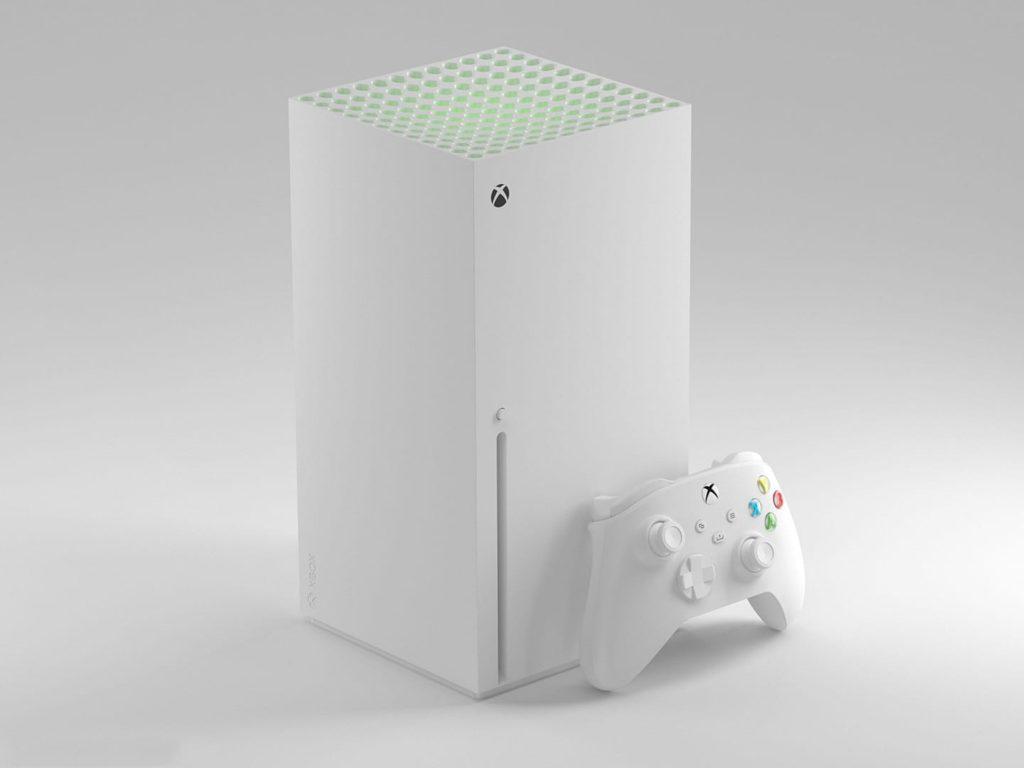 Как может выглядеть Xbox Series X в белом цвете