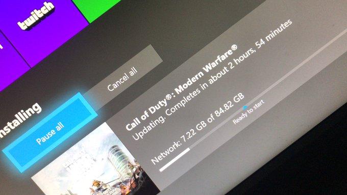 Обновление для Call of Duty: Modern Warfare на Xbox One весит 84 Гб, разработчики обещают исправить