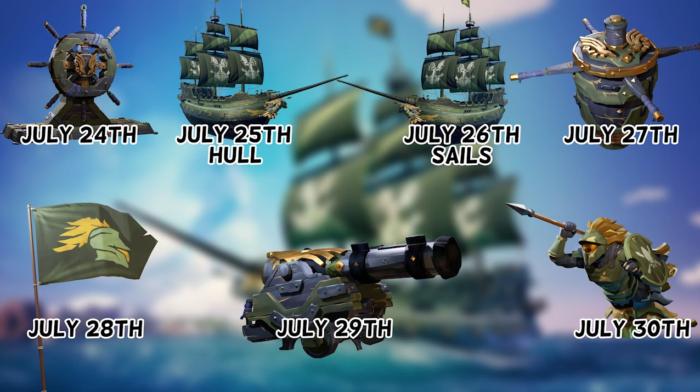 7 предметов для Sea of Thieves можно получить бесплатно в течение недели