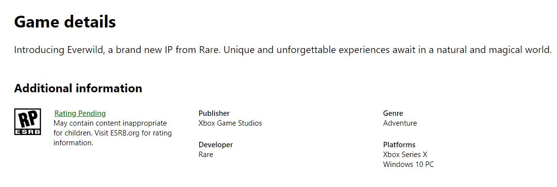 Похоже, что Microsoft отказалась от идеи выпускать Everwild на Xbox One