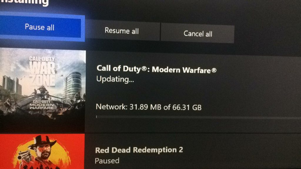 Для Call of Duty: Modern Warfare и Warzone на Xbox One вновь вышло обновление огромных размеров