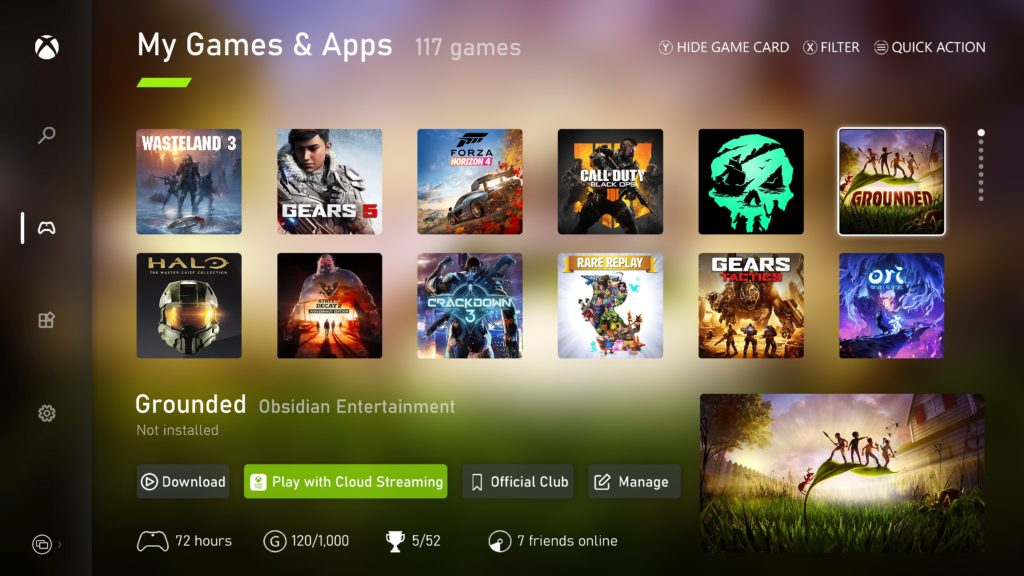 Как может выглядеть дашбоард на Xbox Series X