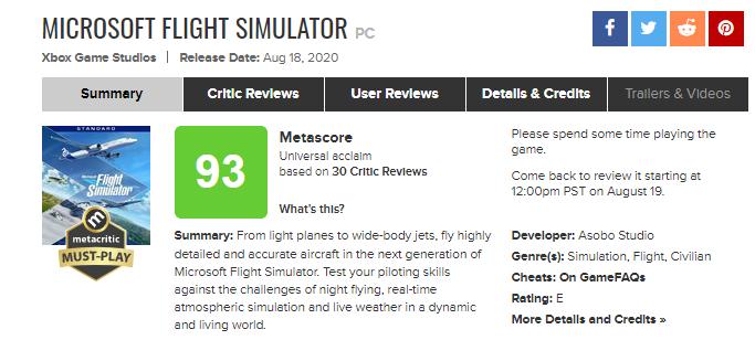 Microsoft Flight Simulator доступна в Xbox Game Pass на PC, игра получила максимальные оценки
