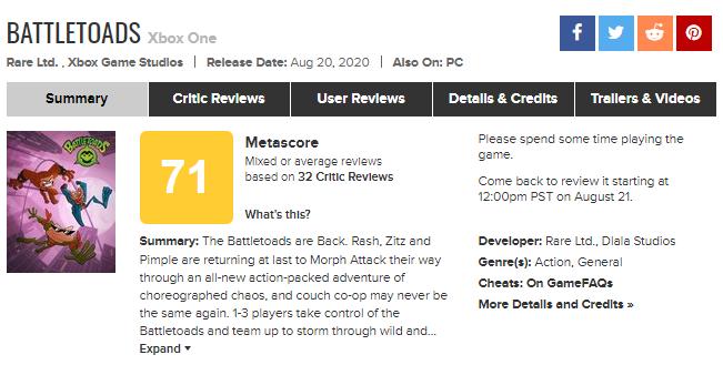 Battletoads не получил восторженную реакцию от критиков: первые оценки