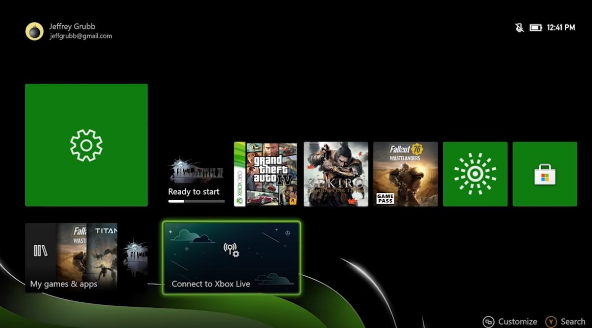 Как выглядят анимированные обои на Xbox Series X