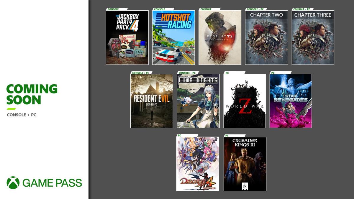 Эти 10 игр будут добавлены в Game Pass в начале сентября