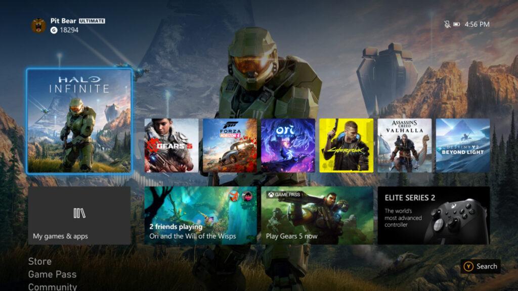 Интерфейс Xbox Series X работает в 1080p