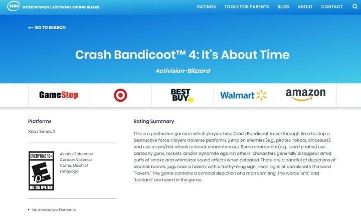 Crash Bandicoot 4: It's About Time может получить версию для Xbox Series X   S