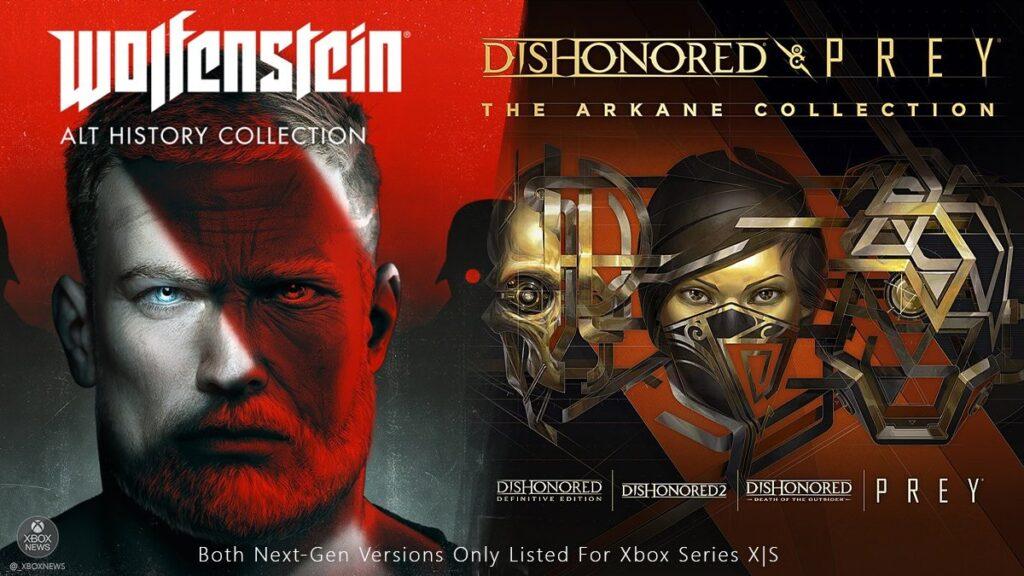 Коллекции Wolfenstein, Dishonored и Prey выйдут на Xbox Series