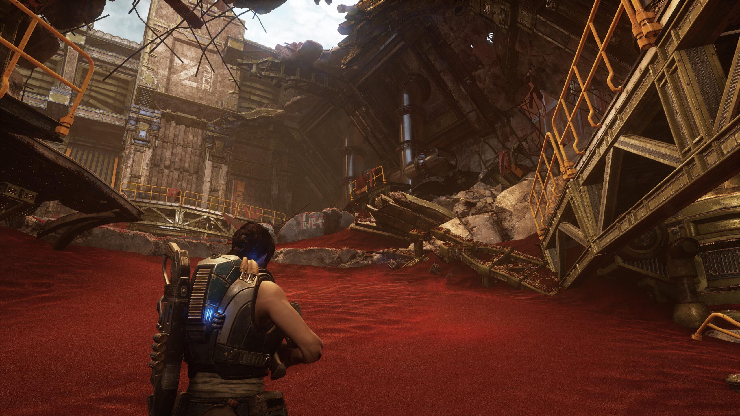 Gears 5: геймплей на Xbox Series X, сравнение графики на Xbox Series X и Xbox One S
