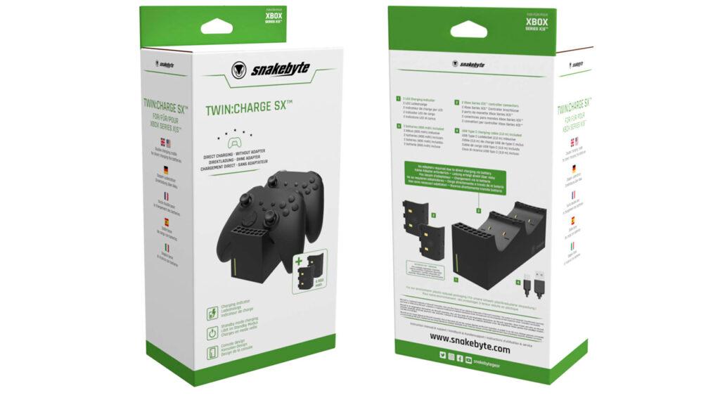 Snakebyte представили зарядные станции для геймпада в стиле Xbox Series X