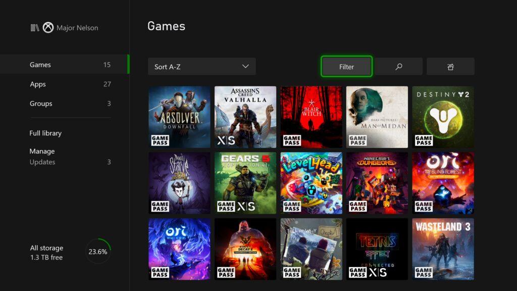 Как в списке игр отличить оптимизированные проекты для Xbox Series X | S