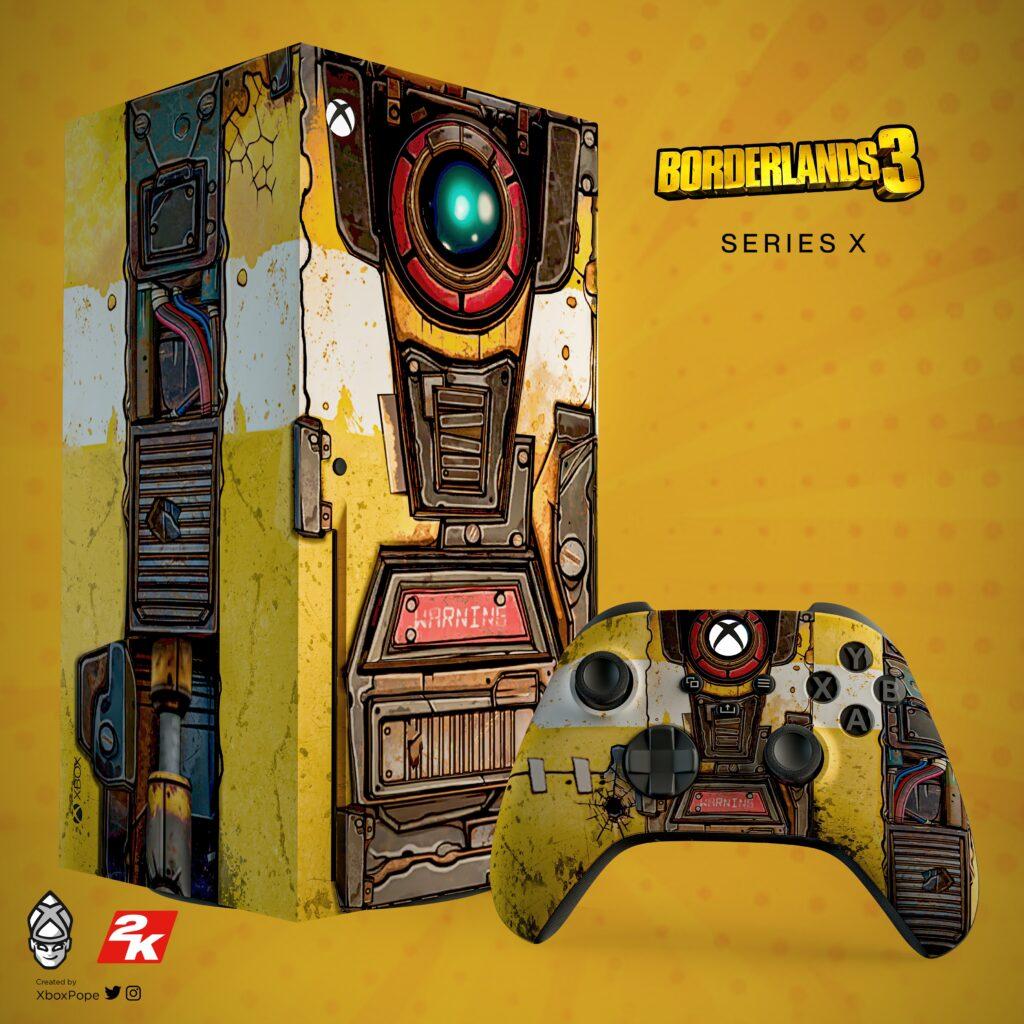 Как выглядит Xbox Series X в стиле Borderlands 3