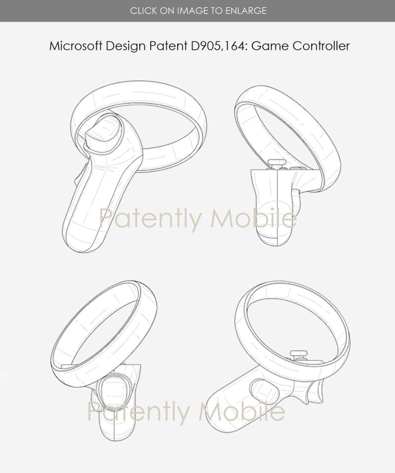 Microsoft получила патент на дизайн VR игрового контроллера и других устройств