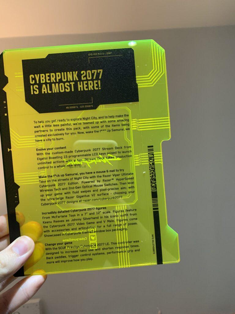 Пресс-набор Cyberpunk 2077 включает уникальный геймпад Xbox, мышь и многое другое - фотографии