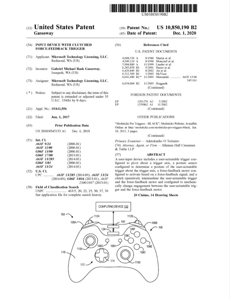 Microsoft запатентовала технологию Force Feedback, аналогичную Dualsense