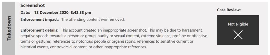 За скриншоты из Cyberpunk 2077 могут заблокировать Xbox Live