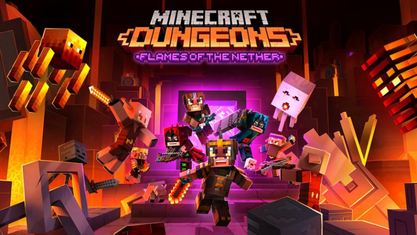 Анонсировано новое DLC для Minecraft Dungeons - Flames of the Nether